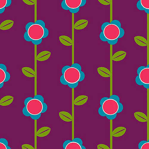 Creative Cuts Cotton Fabric, Roly Poly Vine Print