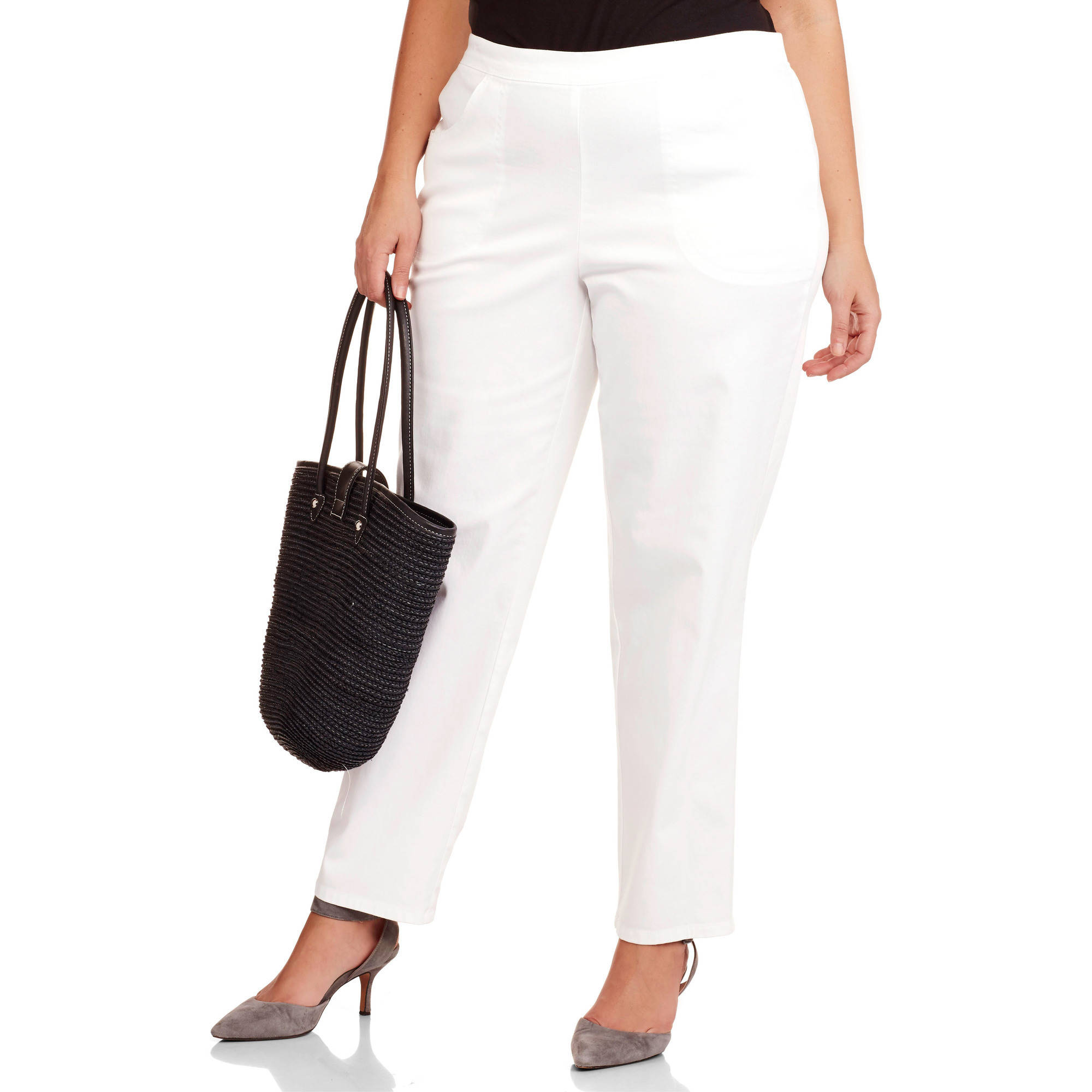 Just My Size Women's Plus-Size 2-Pocket Stretch Pull-On Pants