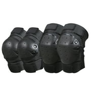 1 Pair Cycling Knee Brace and Elbow Guards Bicycle MTB Bike Motorcycle Riding Knee Support Protective Pads Guards Outdoor Sports Cycling Knee Protector Gear