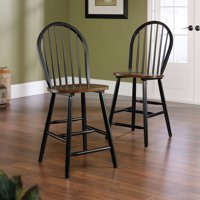 Sauder Edge Water Windsor Chair, Set of 2, Estate Black by Sauder Woodworking Co