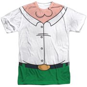 Family Guy Adult Cartoon TV Series Peter Costume Adult 2-Sided Print T-Shirt