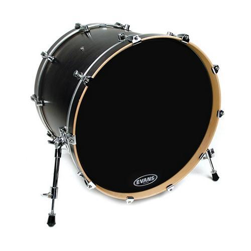 "Evans 16"" EQ3 Resonant Bass Drum Head, Black No Port by"