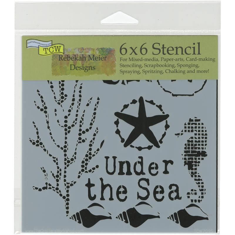 "Crafter's Workshop Template 6"" x 6"" - Under The Sea"