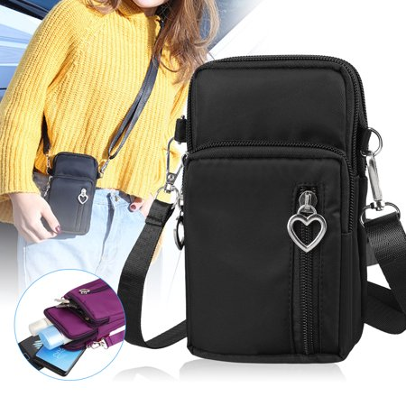 EEEKit Universal Mini Cross-Body Cell Phone Shoulder Strap Wallet Pouch Armband Bag For Sports Shopping Travel, Compatible with Smartphones up to 6.5 inch ()
