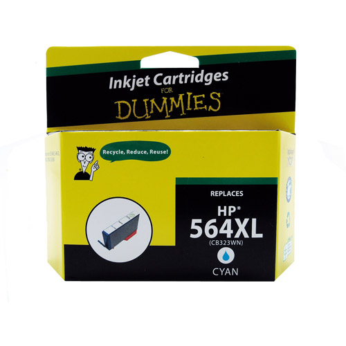 For Dummies Remanufactured Hewlett Packard 564XL Cyan Inkjet Cartridge