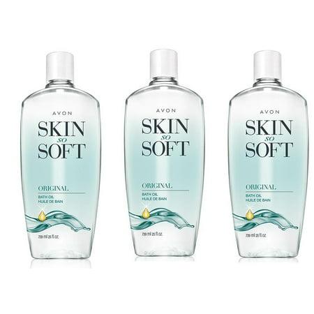 Avon Skin So Soft Original Bath Oil 25oz Lot of 3