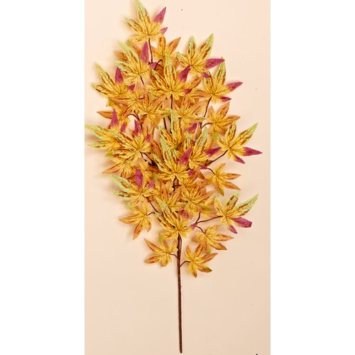 Worth Imports 26'' Japanese Maple Spray with 45 Leaves (Set of 6)