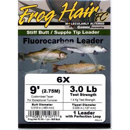 Frog Hair 9ft Fluorocarbon Tapered Leader - Fly Fishing
