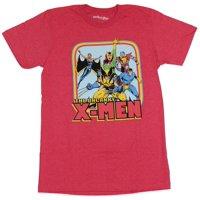 X-Men (Marvel Comics) Mens T-Shirt - The Uncanny X-Men Rainbow Box 70s Team