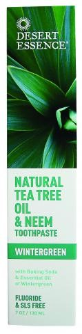 Desert Essence Natural Tea Tree Oil And Neem FluorideFree