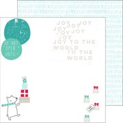 "Christmas Wishes Double-Sided Cardstock 12""X12""-Joy To The World"