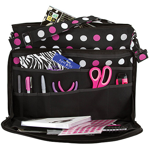 "Creative Options Project Tote-18.375""X14.25""X1.5"" Multi Polka Dots"