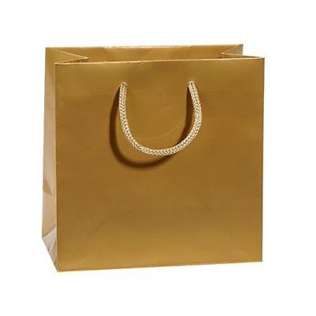 1 Unit Gold Gloss Jewel Gift Bags Bulk 6-1/2x3-1/2x6-1/2