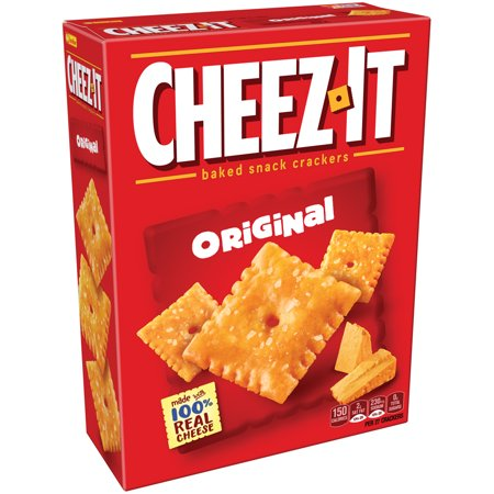 (2 Pack) Cheez-It Baked Snack Crackers Original, 12.4 OZ box