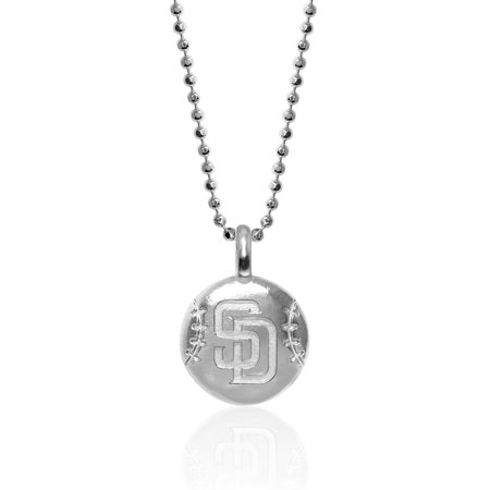 San Diego Padres Alex Woo Women's Sterling Silver Disc Necklace - No Size San Diego Padres Jewelry