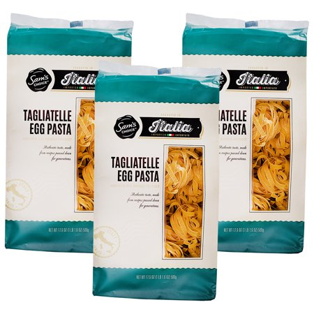 (3 Pack) Sam's Choice Italia Tagliatelle Egg Pasta, 500g ()
