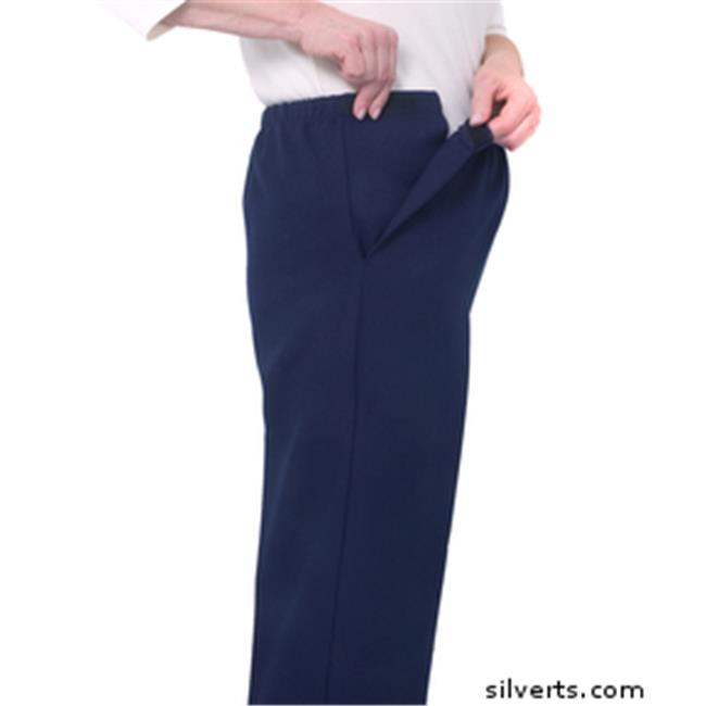 Silverts 230500804 Arthritis Adaptive Pants With Cloth Ti...