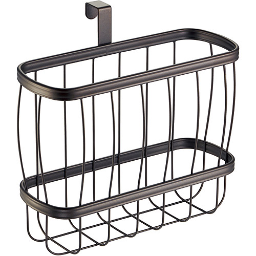 InterDesign York Lyra Newspaper And Magazine Rack For Bathroom Storage,  Over The Tank, Bronze