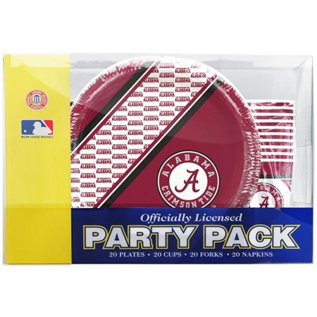 Alabama Crimson Tide Party Pack - University Of Alabama Party Supplies