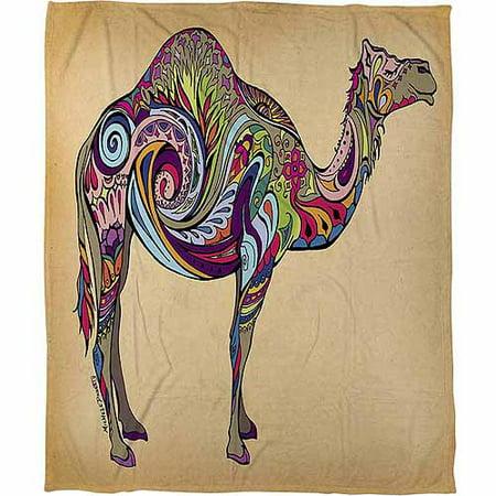 Camel Throw - IDG Camel Coral Fleece Throw