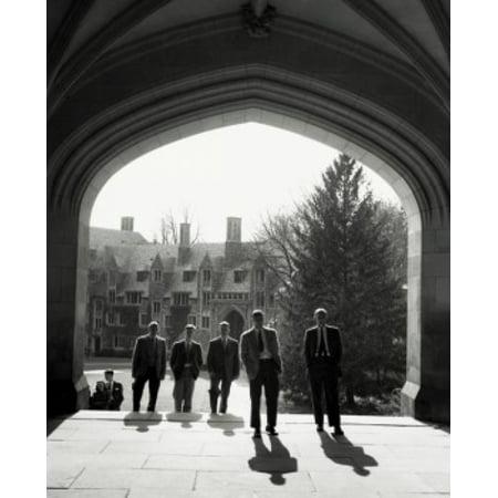 Group of people walking at a university campus Princeton University Princeton New Jersey USA Canvas Art -  (18 x (Jersey Gardens Group Usa)