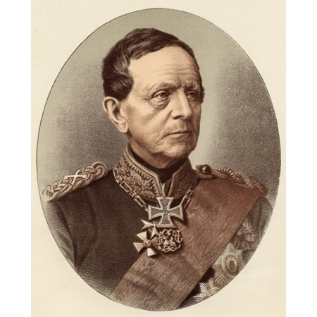 Count Helmuth Von Moltke 1800-1891 Helmuth Karl Bernhard German Field Marshall From A Photograph By Messrs Richard And Lindner Canvas Art - Ken Welsh  Design Pics (26 x 34)