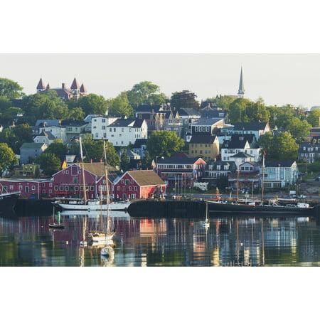 A Canadian Port Town On Mahone Bay Lunenburg Nova Scotia Canada Canvas Art   Carl Bruemmer  Design Pics  38 X 24