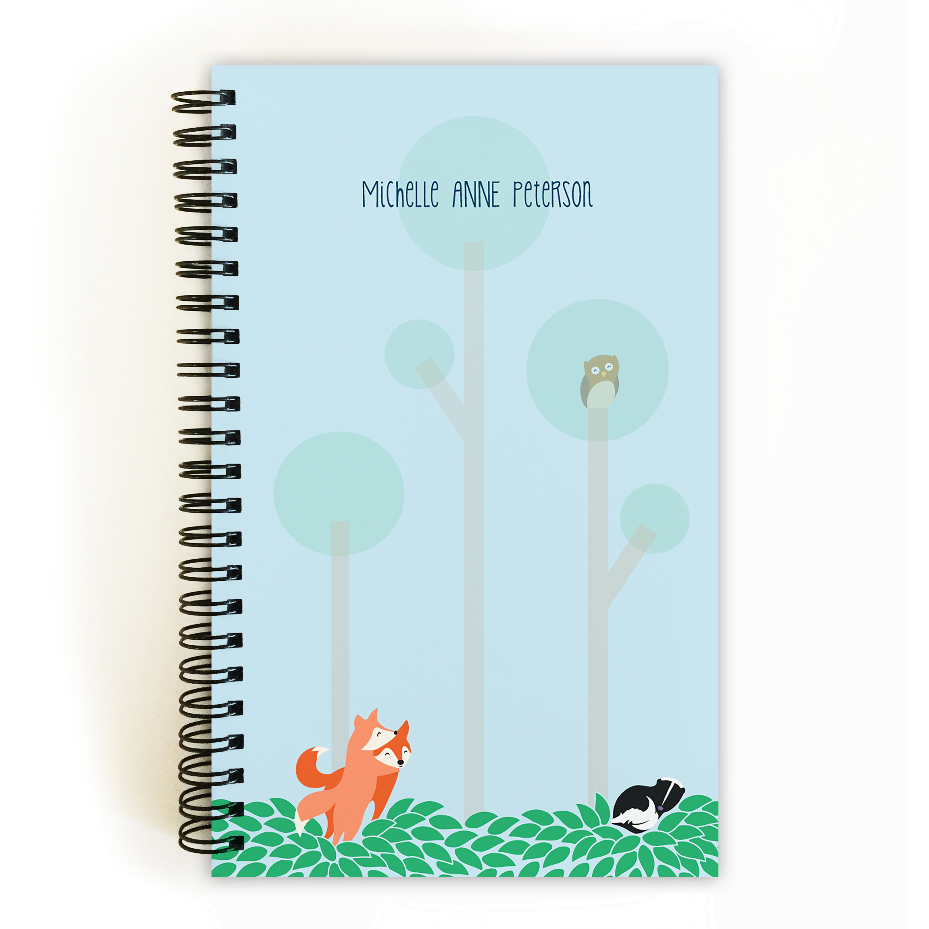 Woodland Animals - Personalized 5 x 8 Notebook