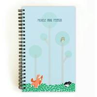 Woodland Animals - Personalized 5 x 8 Notebook
