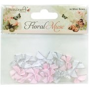 Dovecraft Floral Muse Mini Ribbon Bows, 16pk