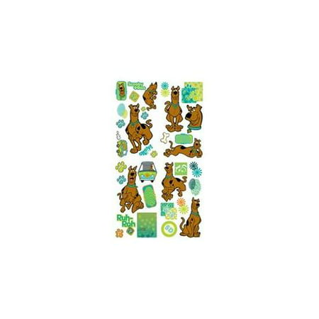 Brewster Home Fashions 12440781 Scooby Doo Prints Self-stick Wall Accent Stickers Set