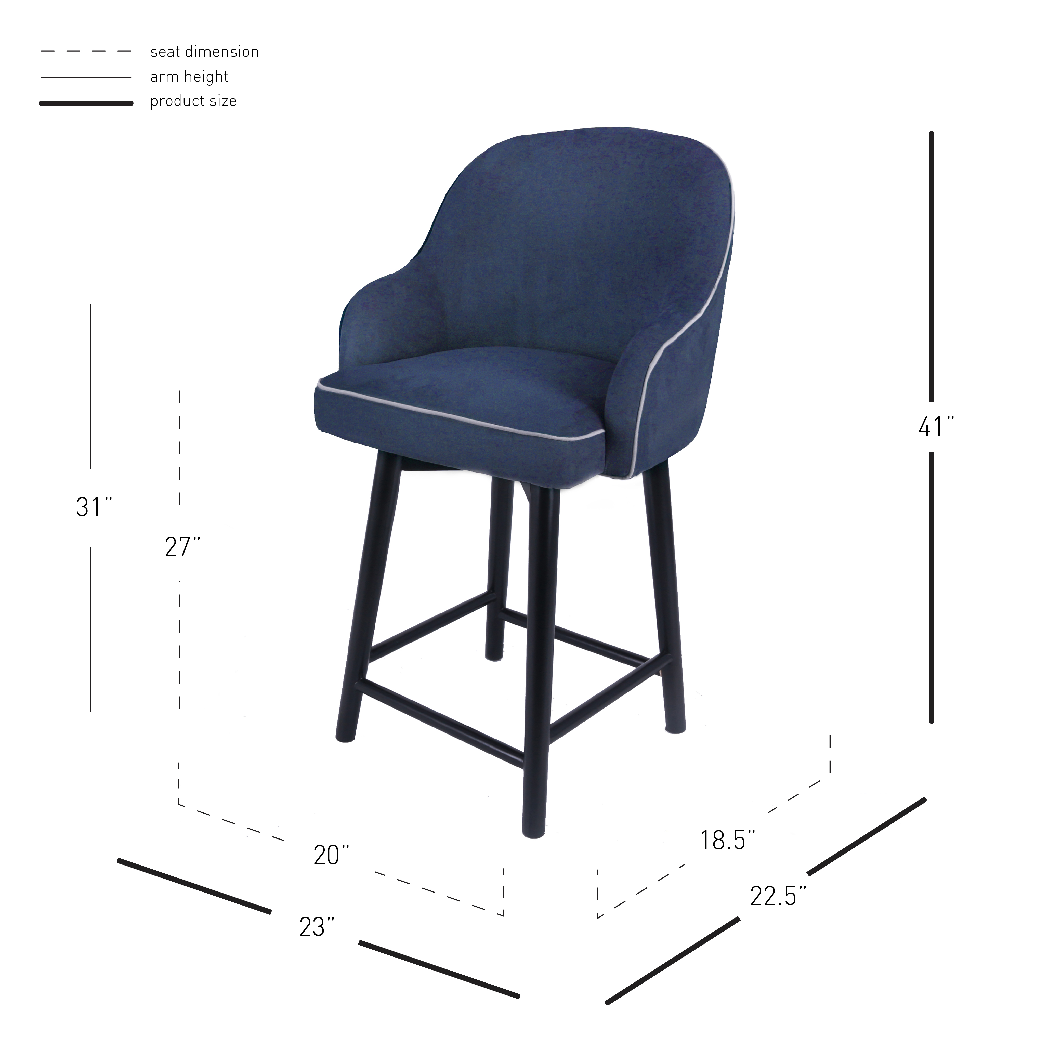 Swell Terry Fabric Swivel Counter Stool Black Herringbone Squirreltailoven Fun Painted Chair Ideas Images Squirreltailovenorg