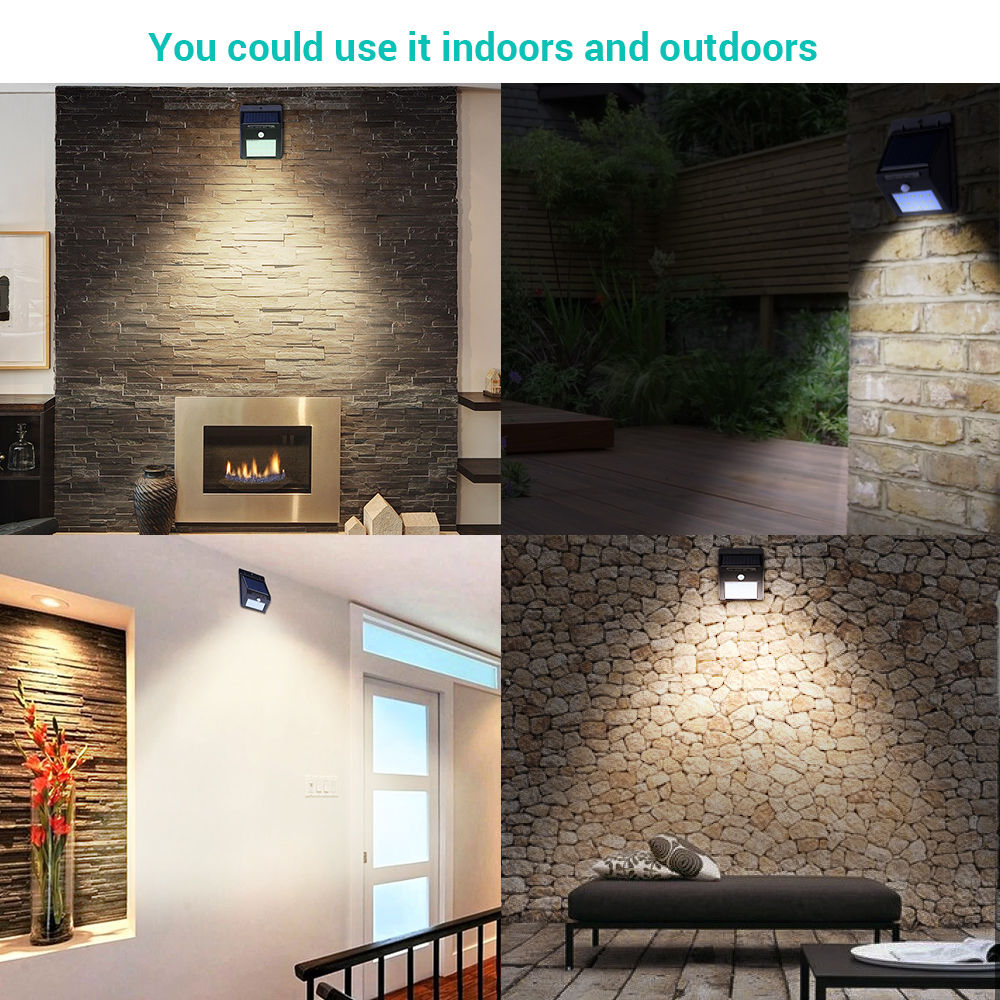 4 Pack 12LED Solar Power Sensor Wall Light Security Motion Weatherproof Outdoor Lamp by