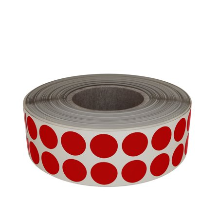 - Color coding sticker label, Red stickers dots in 8mm 1/4