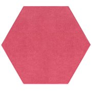 Color World Collection Pet Friendly Pink 12' Hexagon - Area Rug