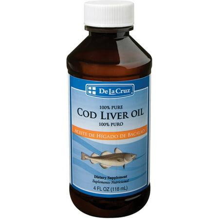 De La Cruz Cod Liver Oil 4 Oz