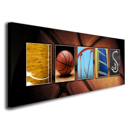 Personalized Basketball Name Wall Art, Live Previews, Choose Each Photos, Multiple Options - Personalized Basketball