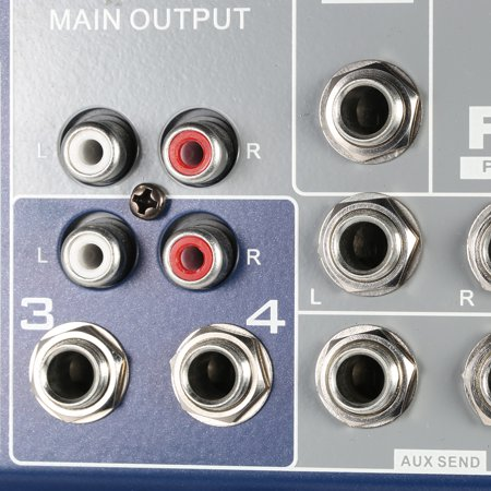 Professional Metal 4 Channel Live Mixer Mixing Console 3-Band EQ USB Function 48V Phantom with Bulit-in Effect Processor Mic Input - image 4 of 7