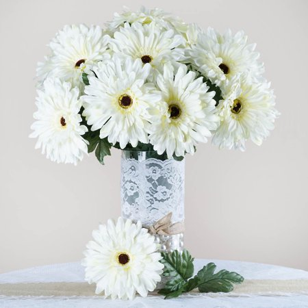 Efavormart 28 Artificial GERBERA Daisy Bushes for DIY Wedding Bouquets Centerpieces Arrangements Party Home Decorations - 10 Colors