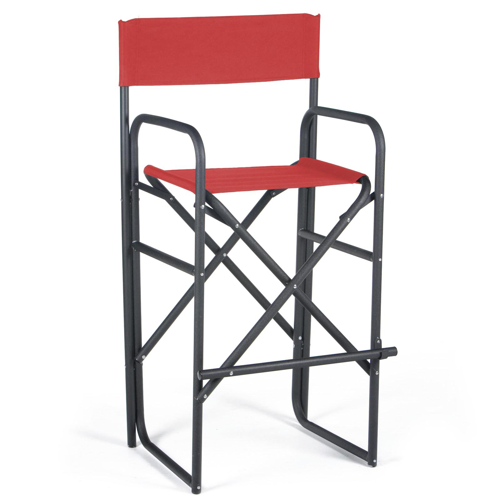Captivating 30.5 Inch Black Frame Bar Height Directors Chair