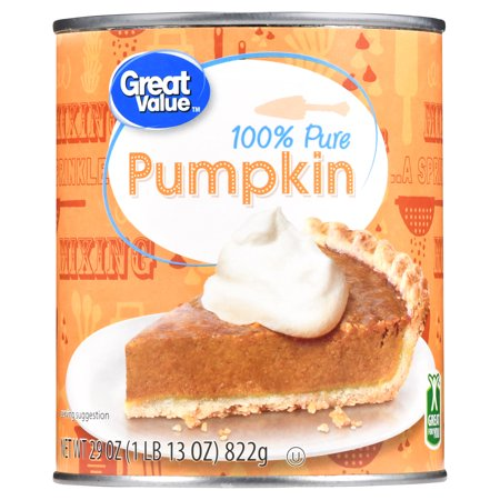 (4 Pack) Great Value 100% Pure Pumpkin, 29 - Puke Pumpkin