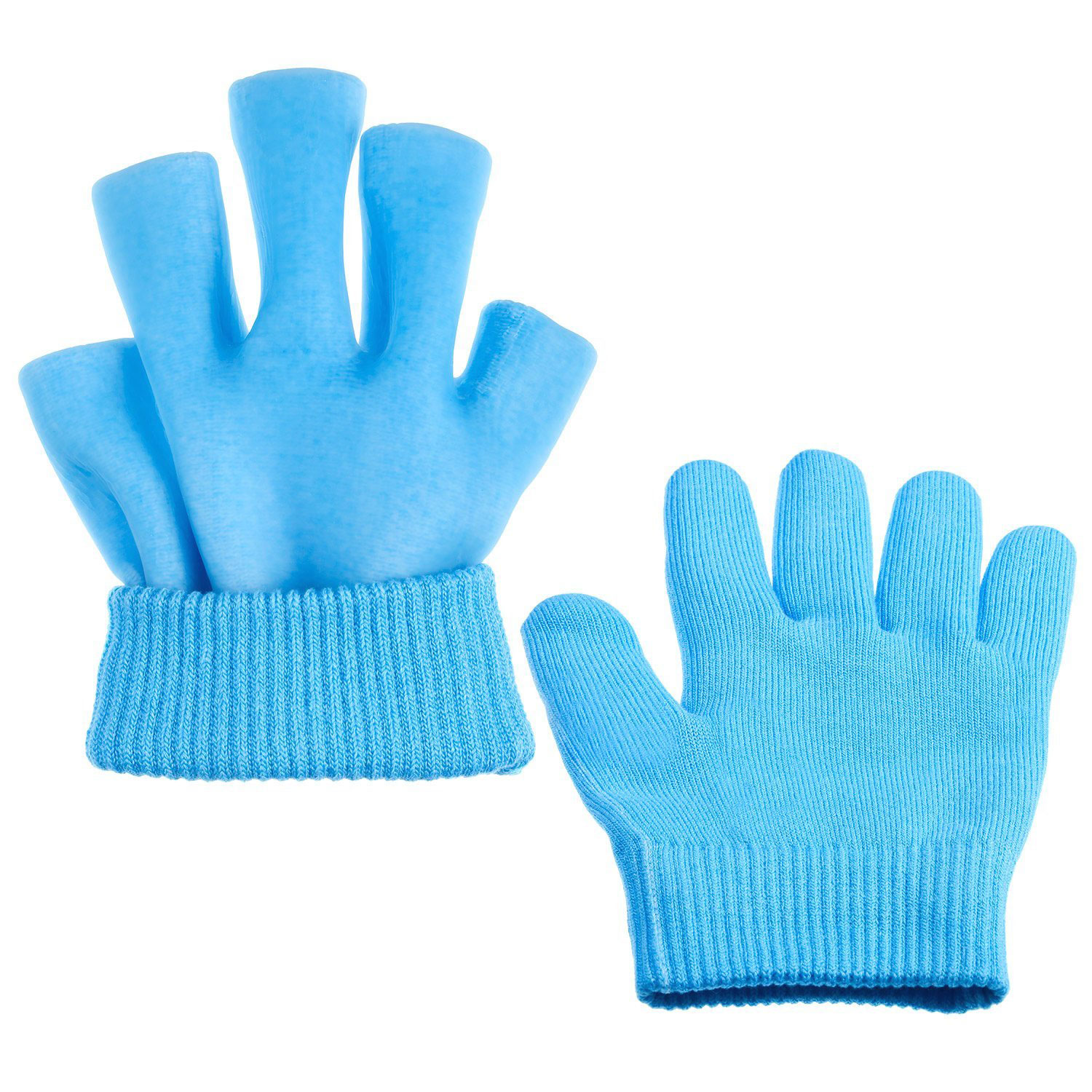 Gel SPA Moisturizing Gloves Repair Cracked Cuticles Dry Skin Treatment Whitening Exfoliating Therapy Hand Skin Care 1 Pair Blue