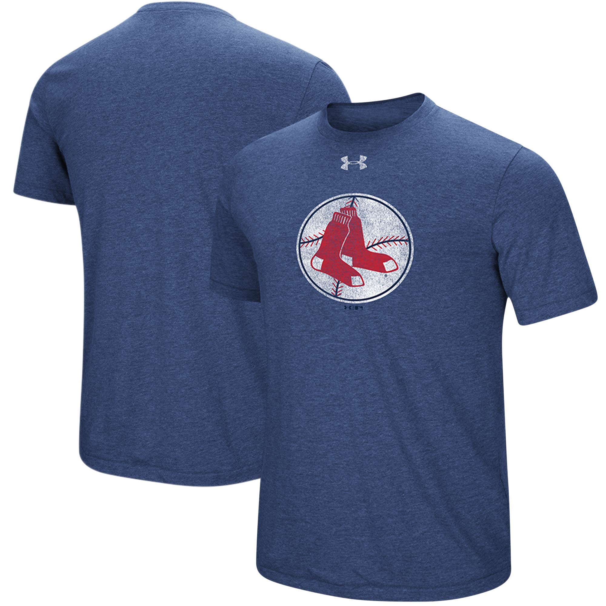 Boston Red Sox Under Armour Cooperstown Collection Mark Performance Tri-Blend T-Shirt - Heathered Navy