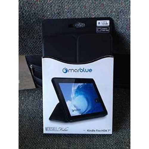MARBLUE MicroShell Folio for Kindle Fire HDX 7 BLACK #KLMF21