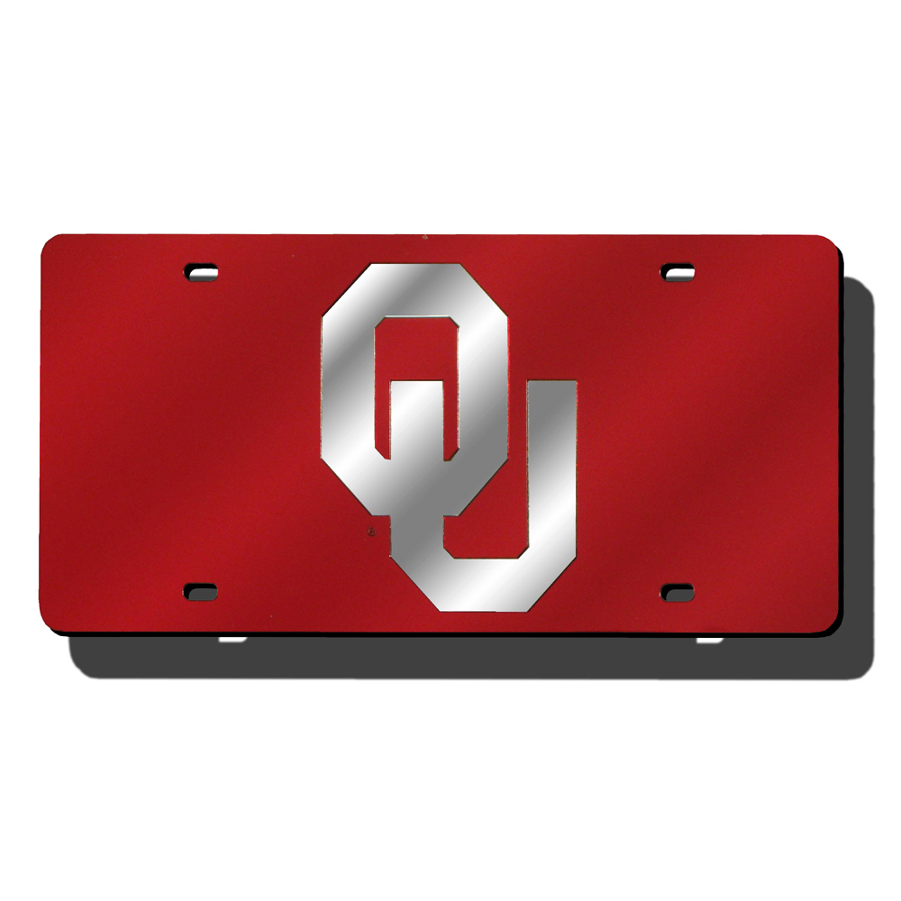 Oklahoma Sooners NCAA Laser Cut License Plate Cover