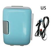 VVIED 4 Liter Portable Compact Personal Fridge Cools & Heats Great for Bedroom Office Car Dorm Portable Makeup Skincare Fridge
