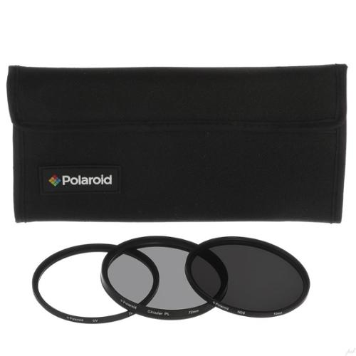 Polaroid Optics 52mm 3-Piece Filter Kit Set [UV,CPL, Neutral Density] includes Nylon Carry Case – Compatible w/ All Popular Camera Lens Models.