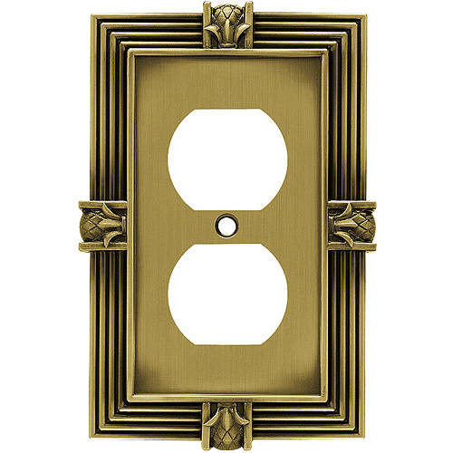 Brainerd Pineapple Single Duplex Wall Plate, Available in Multiple Colors
