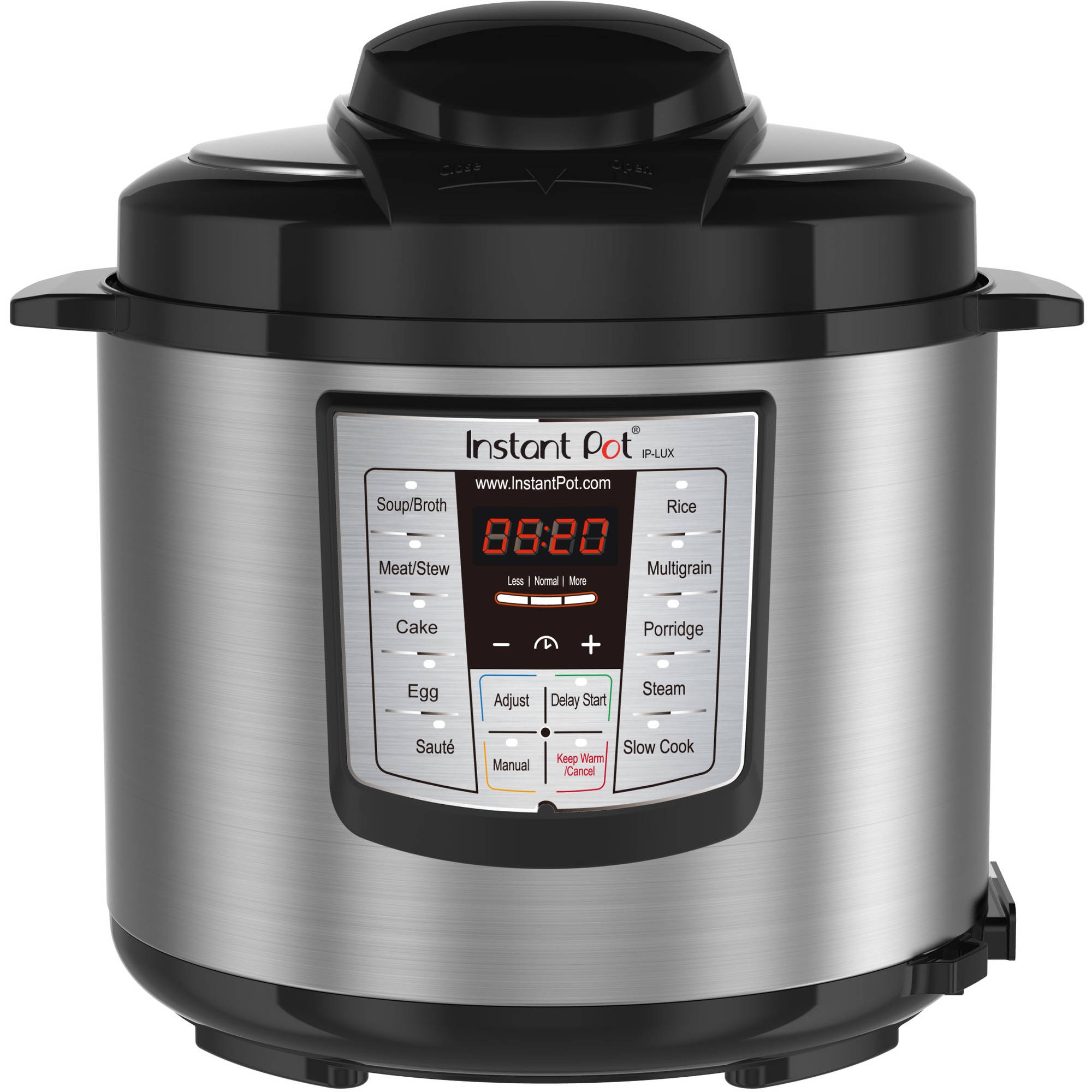 Instant Pot LUX60 V3 6 Qt 6-in-1 Multi-Use Programmable Pressure Cooker, Slow Cooker, Rice Cooker, Saute, Steamer, and Warmer