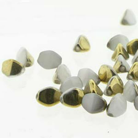 Pinch Czech Glass, Loose Beads, 5mm White Amber 50, Loose Beads, Loose Strand